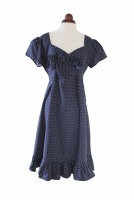 Ladies 1940s Style Tea Dress Wartime Goodwood Costume Size 14 - 16