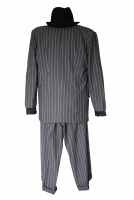 Mens 1920s 1930s Gangster Blues Brothers Costume Size L / XL