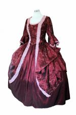 Deluxe Ladies 18th Century Marie Antoinette Masked Ball Costume Size 12 - 14