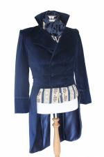 For Sale Made To Order Men's Handmade Velvet Deluxe Mr.Darcy Regency Victorian Tailcoat Made To Order XS, S, M, L, XL