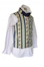 Men's Regency Mr. Darcy Pride And Prejudice Striped Waistcoat Cotton Velvet Plain Waistcoat Made To Order For Sale Sizes S - XL