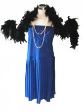 Ladies Blue 1920s Flapper Costume Size 12 - 14