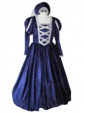 Ladies Medieval Tudor Costume And Headdress