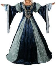 Ladies Medieval Renaissance Costume And Headdress Size 20 - 22